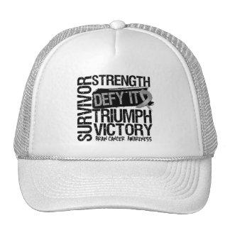 Brain Cancer Survivor Defy It Trucker Hats