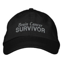 Brain Cancer Survivor Embroidered Baseball Hat