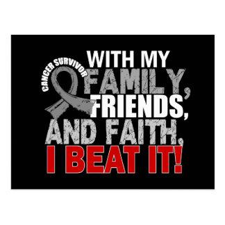 Brain Cancer Survivor Family Friends Faith Postcard