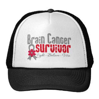 Brain Cancer Survivor Flower Ribbon Hats