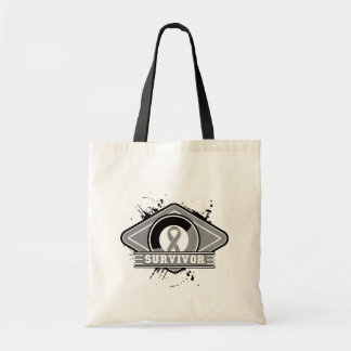 Brain Cancer Survivor Grunge Logo Canvas Bag