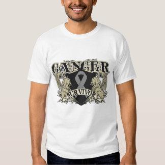 Brain Cancer Survivor Mens Heraldry T-shirt