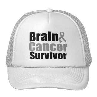 Brain Cancer Survivor Ribbon Mesh Hats