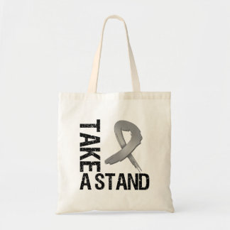 Brain Cancer Take A Stand Canvas Bags