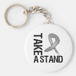 Brain Cancer Take A Stand Key Chain