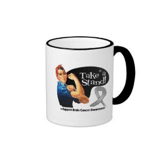 Brain Cancer Take a Stand Ringer Coffee Mug