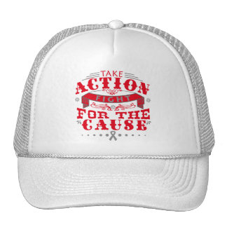 Brain Cancer Take Action Fight For The Cause Trucker Hat