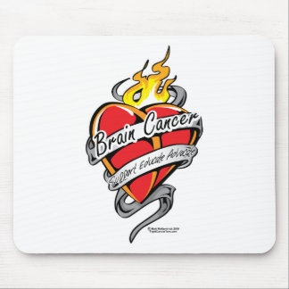 Brain Cancer Tattoo Heart Mouse Pad