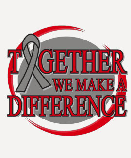 Brain Cancer Together We Make A Difference T Shirt