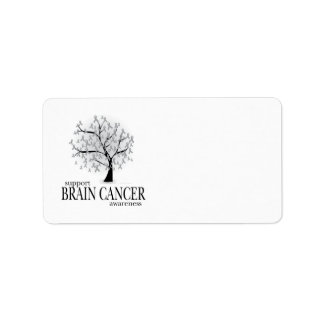 Brain Cancer Tree Personalized Address Label