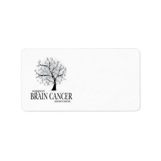 Brain Cancer Tree Personalized Address Label