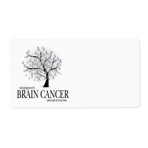 Brain Cancer Tree Shipping Label