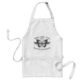 Brain Cancer Tribal Butterfly Adult Apron