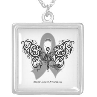 Brain Cancer Tribal Butterfly Ribbon Jewelry