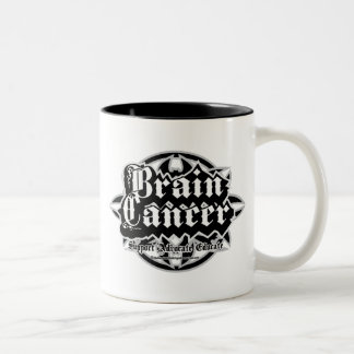 Brain Cancer Tribal Two-Tone Coffee Mug
