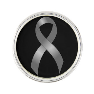 Brain Cancer & Tumor Grey Ribbon Lapel Pin