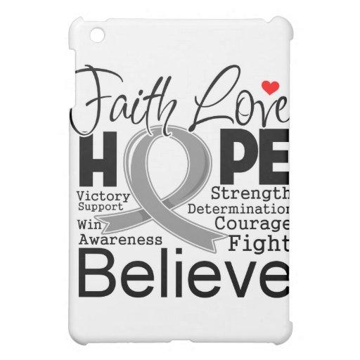 Brain Cancer Typographic Faith Love Hope iPad Mini Case