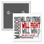 Brain Cancer Warrior 2 Inch Square Button