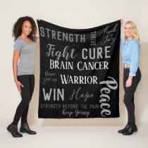 Brain Cancer Warrior blanket