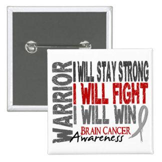 Brain Cancer Warrior Button