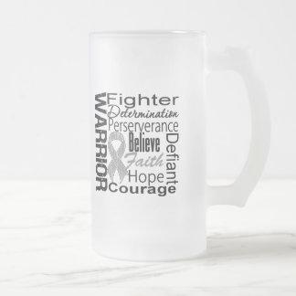 Brain Cancer Warrior Collage Mug