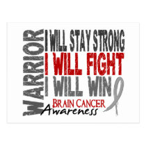 Brain Cancer Warrior Postcard