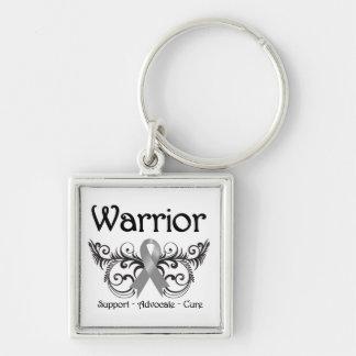 Brain Cancer Warrior Scroll Key Chain