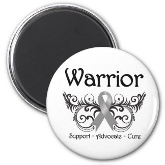 Brain Cancer Warrior Scroll Refrigerator Magnet