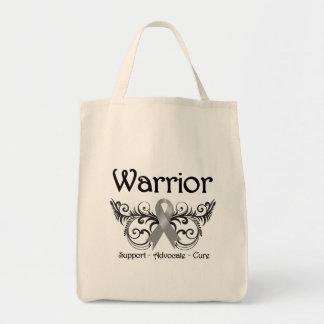 Brain Cancer Warrior Scroll Tote Bag