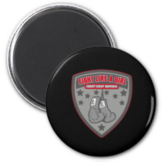 Brain Cancer Wear Fight Like A Girl Patch Refrigerator Magnets