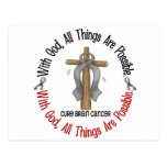 Brain Cancer WITH GOD CROSS 1 Post Cards