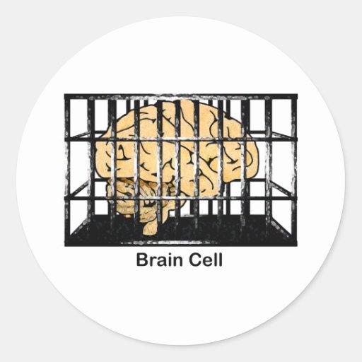 Brain Cell Classic Round Sticker