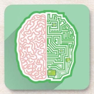 Brain Circuit vector Beverage Coaster