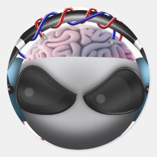 Brain Classic Round Sticker