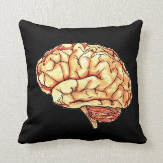 Brain color/B&W throw pillow