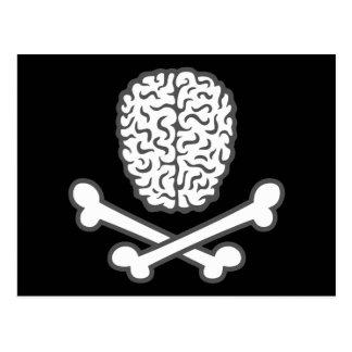 Brain & Crossbones Postcard