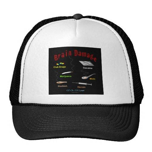 Brain Damage Black Mesh Hats