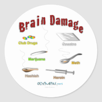 Brain Damage Light Sticker