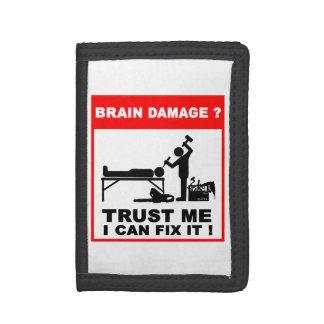 Brain damage, Trust me, I can fix it! Tri-fold Wallets