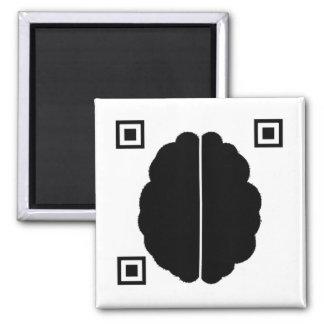 Brain Data Matrix Fridge Magnets