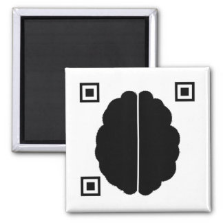 Brain Data Matrix 2 Inch Square Magnet