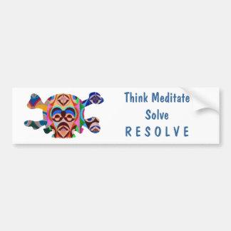 Brain Dead Skull - Meditate Resolve Bumper Sticker