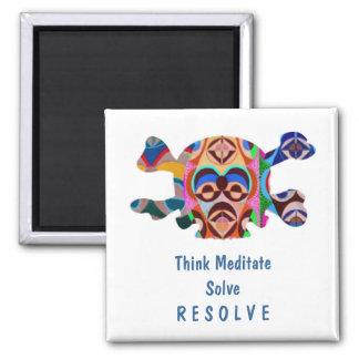 Brain Dead Skull - Meditate Resolve Fridge Magnet