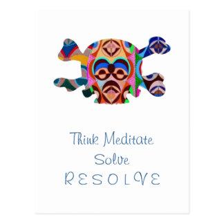 Brain Dead Skull - Meditate Resolve Postcard