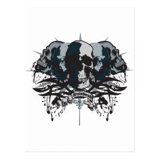Brain Dead Skull Postcard