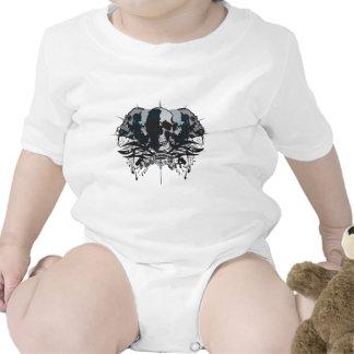 Brain Dead Skull Baby Bodysuits