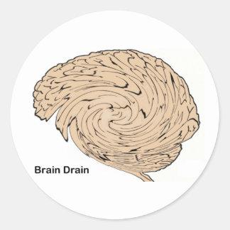 Brain Drain Classic Round Sticker