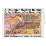 Brain Drain Halloween Martini Recipe Card