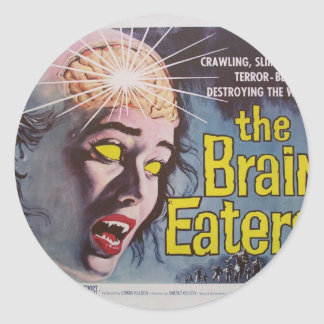 Brain Eaters Classic Round Sticker