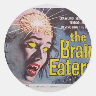Brain Eaters Classic Round Sticker